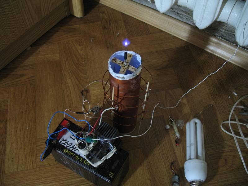 трансформатор тесла на транзисторе кт837